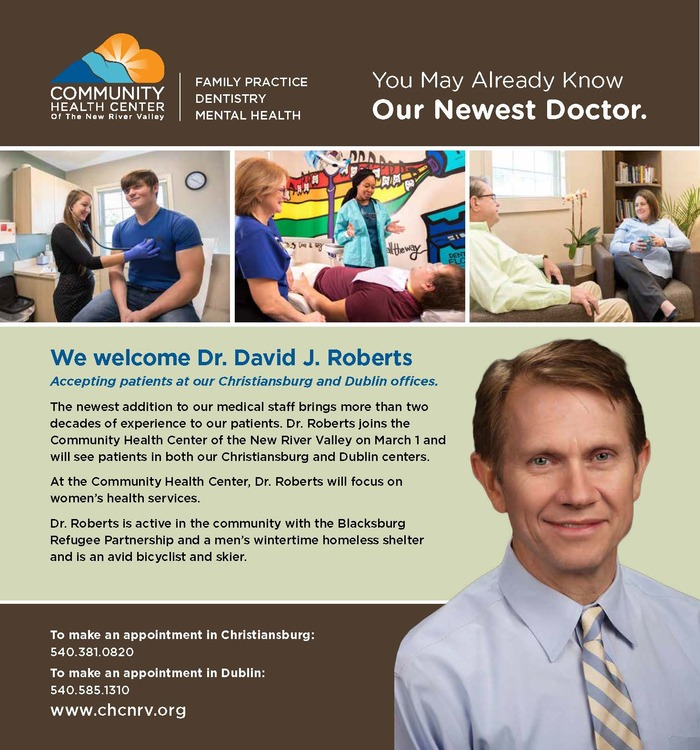 We welcome David Roberts, M.D to our team
